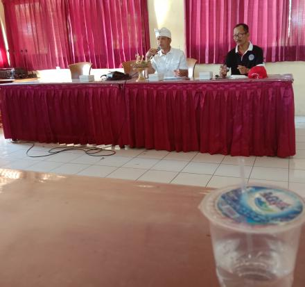 Rapat perisapan Pengesahan Ketua dan anggota BPD baru periode 2019-2024